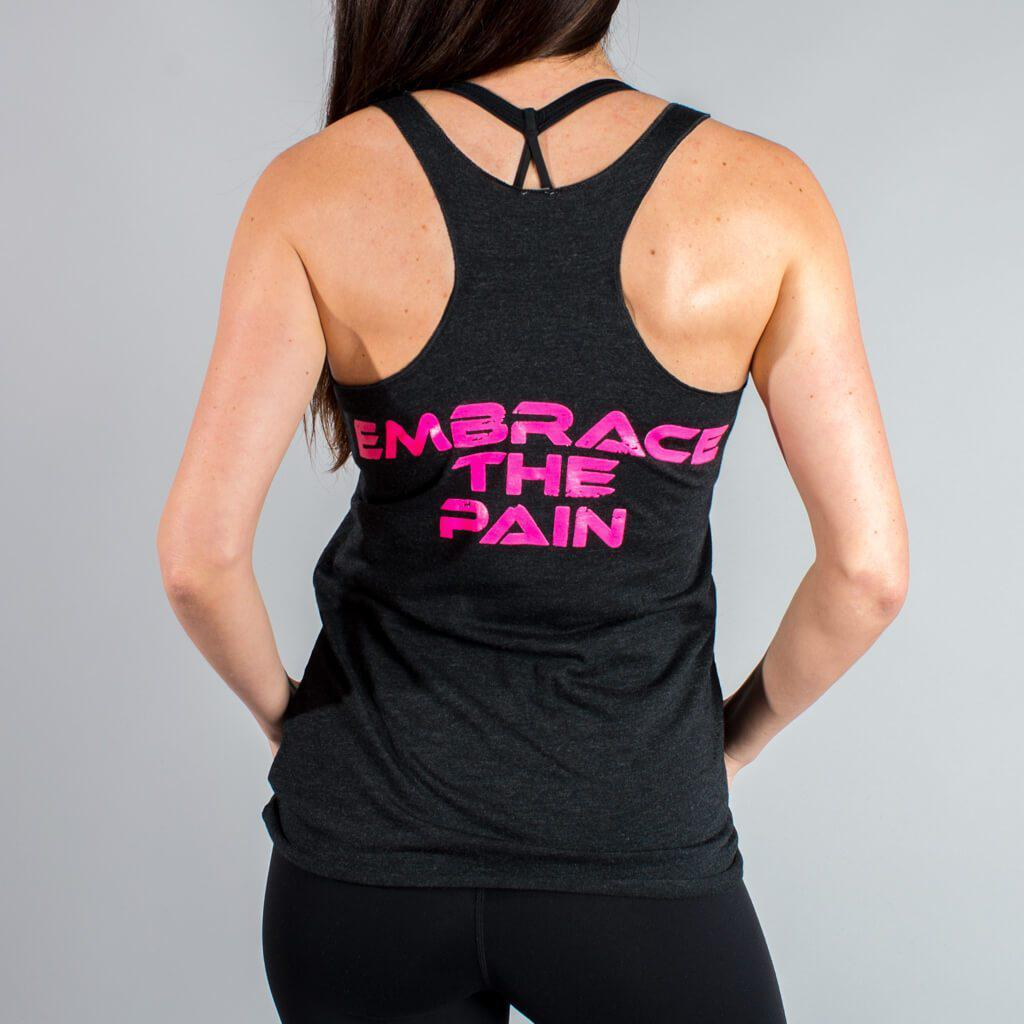 Embrace The Pain Tank - Pink or White - LiveSore Australia