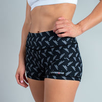 FIRE NO-RISE BOOTY SHORTS - HIGHLY AGGRESSIVE - LiveSore Australia