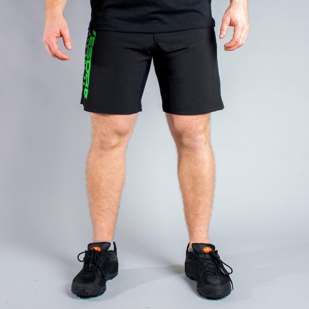 Black & Green Men's WOD shorts - LiveSore Australia