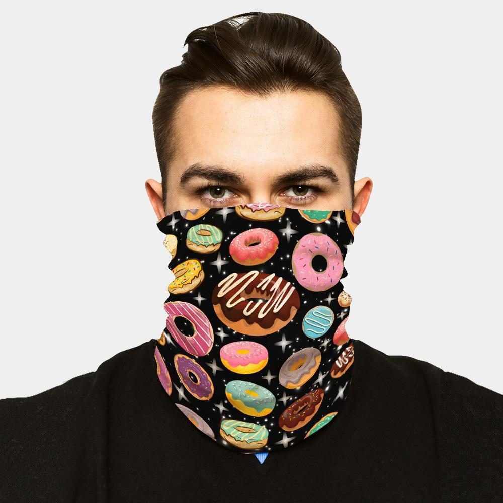 """ICE COOL"" FACE SLEEVE BUFF - DONUTS - LiveSore Australia"