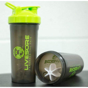 Black & Green LiveSore Shaker Bottle - LiveSore Australia