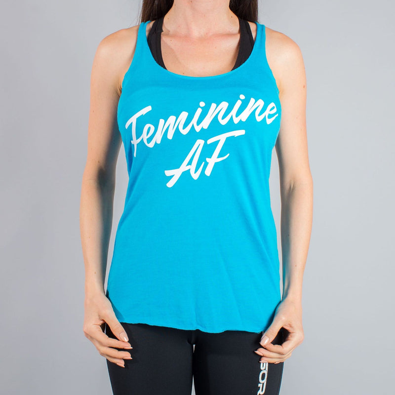 Feminine AF - Throat Punch Tank Top - LiveSore Australia