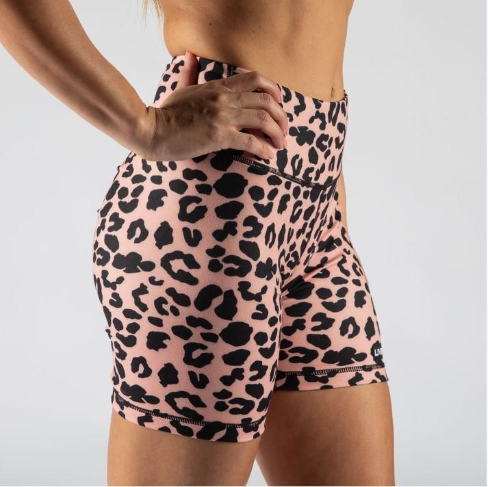 FIRE BOOTY BIKE SHORTS - CORAL ANIMAL - LiveSore Australia