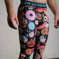 MEN'S GALAXY DONUT COMPRESSION PANTS: (LIMITED EDITION) - LiveSore Australia