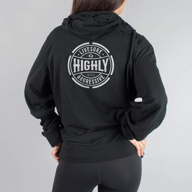 HIGHLY AGGRESSIVE RETRO LIGHTWEIGHT ZIP-UP HOODIE - LiveSore Australia