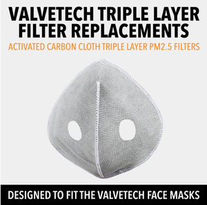 VALVETECH TRIPLE LAYER FILTER REPLACEMENTS - 10 PACK - LiveSore Australia