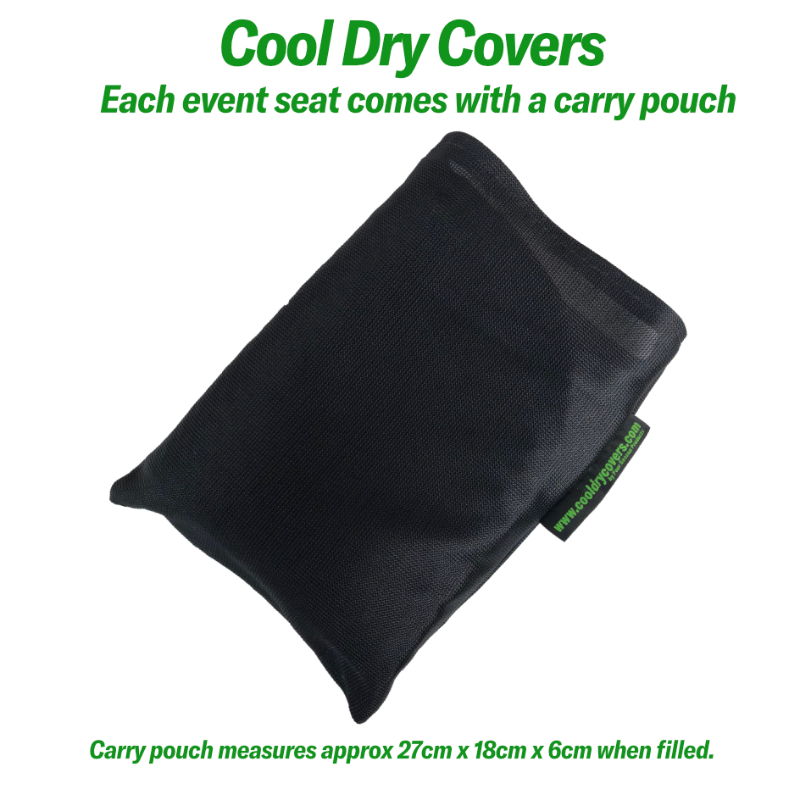 Cool Dry Covers Event Seat in Carry Pouch