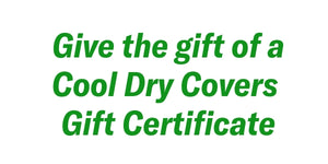 Cool Dry Covers Set for Golf Cart- Gift E-Card