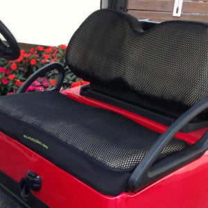 Cool Dry Covers Seat Covers Set for Club Car Precedent golf cart. Shown installed on cart.