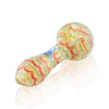Rasta Wrap and Rake Glass Pipe by Chameleon Glass