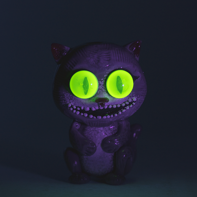 Crazy Kitty Pipe - UV Reactive by Empire Glassworks