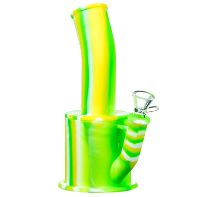 Green and Yellow Silicone Oil Can Bong
