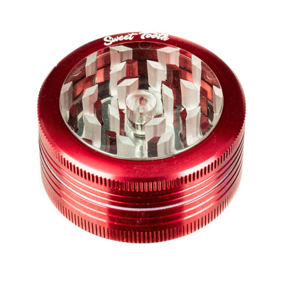 Red 2-Piece Pop Up Diamond Teeth Grinder