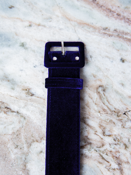 "1.5"" Belt in Midnight Blue Velvet"