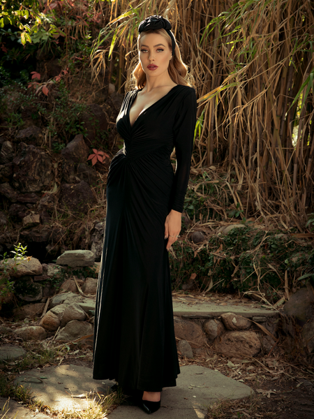 Sleepy Hollow Hessian Dress in Black