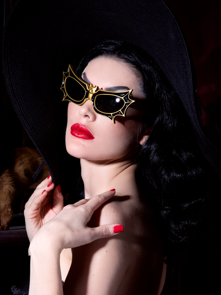 PRE-ORDER - Bat Glasses - Vampira® by La Femme en Noir - Black