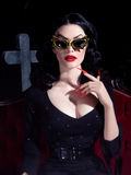 PRE-ORDER - Vampira® Bat Glasses in Gold/Black by La Femme en Noir