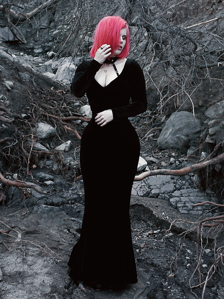 FINAL SALE - Black Marilyn Gown in Black