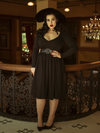 FINAL SALE - Black Marilyn Swing Dress