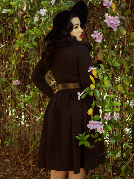 Black Marilyn Swing Dress