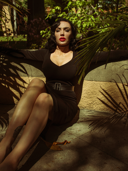 FINAL SALE - Black Marilyn Wiggle Dress