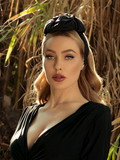 Art Deco Turbanette in Black by Ashley Swift Millinery