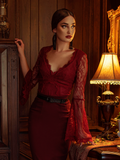 La Sorcière Top in Crimson