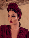 PRE-ORDER Art Deco Turbanette in Crimson by Ashley Swift Millinery