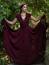 PRE-ORDER - Mythical Goddess Gown in Oxblood Gorgon Print by Natalie Hall