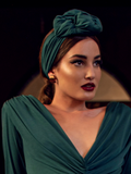 PRE-ORDER Art Deco Turbanette in Green by Ashley Swift Millinery