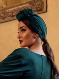 Art Deco Turbanette in Green by Ashley Swift Millinery