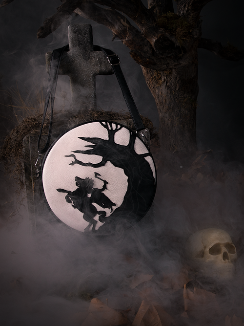 Sleepy Hollow Headless Horseman Crossbody Bag in Black and White