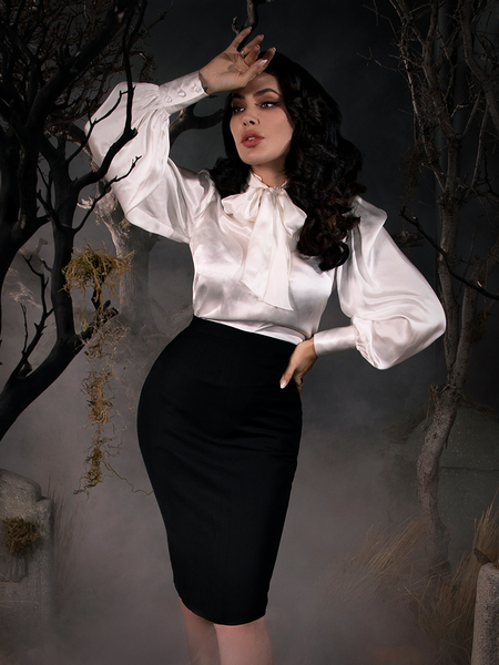 PRE ORDER - Sleepy Hollow Gothic Tales Velour Skirt in Black