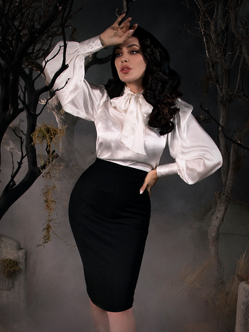 Sleepy Hollow Ichabod Pencil Skirt in Black