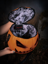 The inside of the Sleepy Hollow Pumpkin Bag displayed.