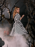 PRE ORDER - Sleepy Hollow The Katrina Dress in Black and White