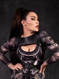 PRE-ORDER - Platelet Harness in Black Faux Leather