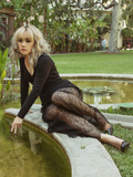 FINAL SALE - Black Widow Palazzo Pants in Lace