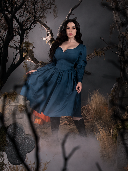 PRE ORDER - Sleepy Hollow The Lady Crane Dress in Vintage Blue