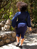 Vamp Pencil Skirt in Navy