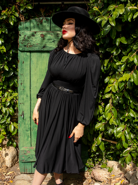 Baudelaire Swing Dress in Black