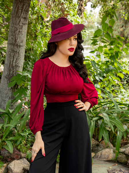 The Salem Top in Oxblood