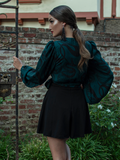 PRE-ORDER - Georgette Wrap Blouse in Serpentine Print by Natalie Hall