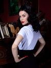 FINAL SALE - Vampira® Red Lips T-Shirt White  - Vampira® by La Femme En Noir