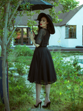 Wicked Web Circle Skirt in Black
