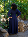 Black Widow Palazzo Pants in Navy