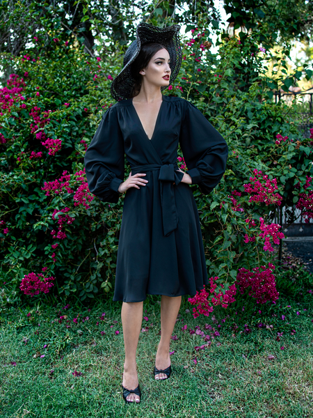 PRE-ORDER FOR SIZE MEDIUM AND LARGE - mid JULY Serpentine Wrap Dress in Black
