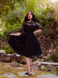 Mourning Dress in Black Lace