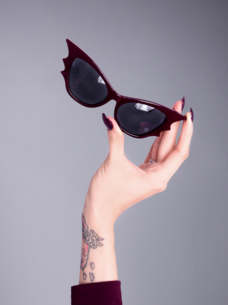 COMING BACK SOON - Vampira® Bat Glasses in Gold/Black by La Femme en Noir