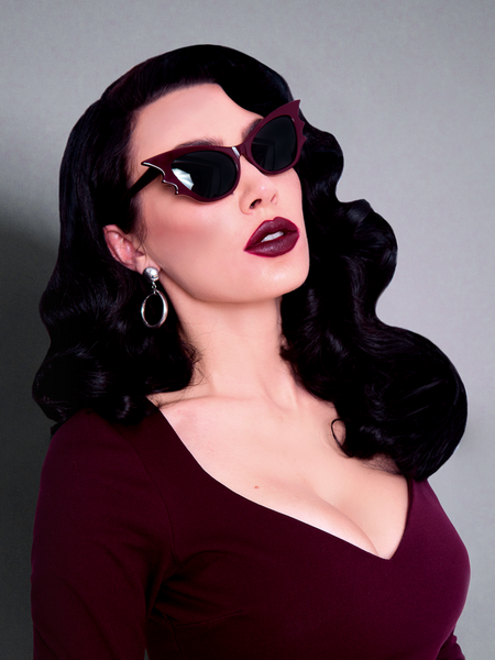 Vamp Batwing Sunglasses in Oxblood